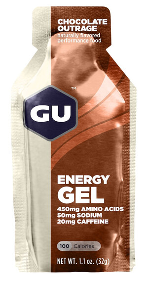 GU Energy Energy Gel - Nutrition sport - Chocolate Outrage 32g beige/marron